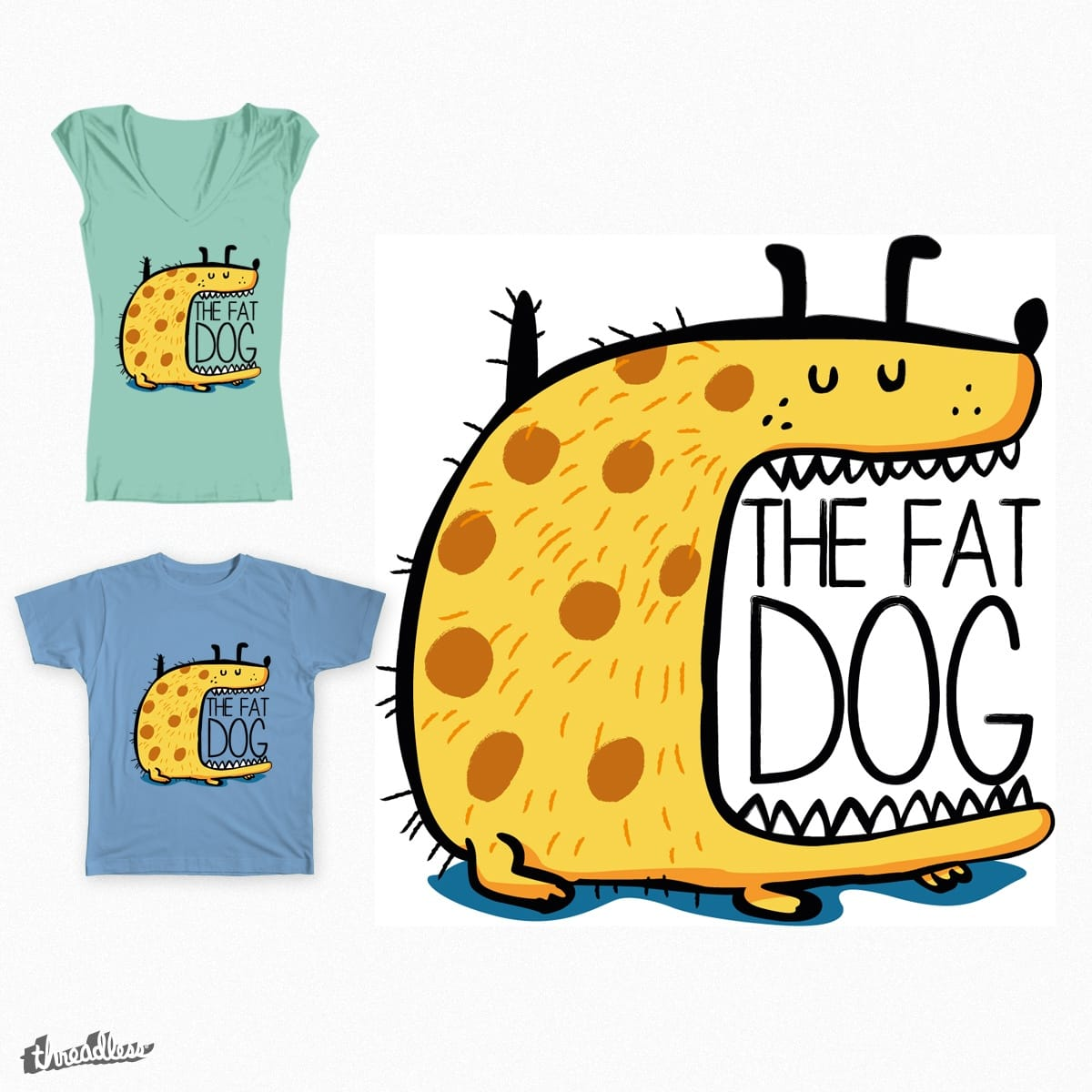 The Fat Dog by Lmampel on Threadless