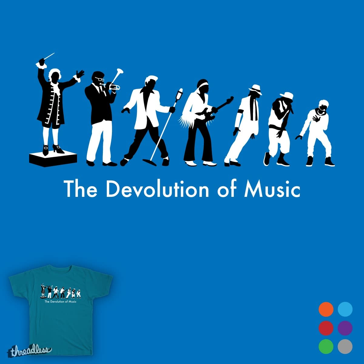 The Devolution of Music by Wakonda on Threadless
