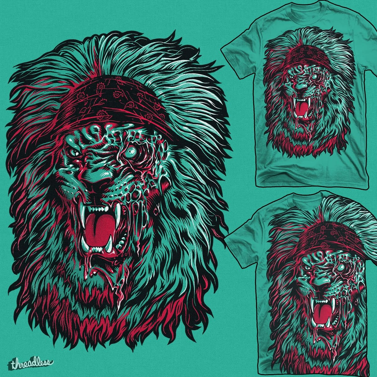 Zombie Lion by RicoMambo on Threadless