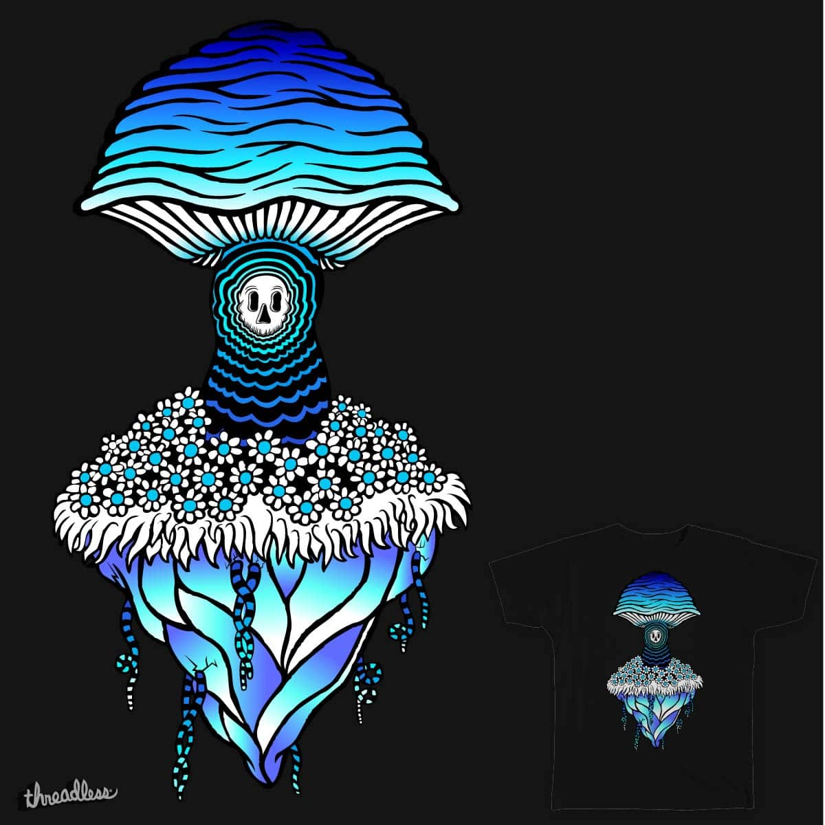 Shroom Island (Ice) by dark_planet on Threadless