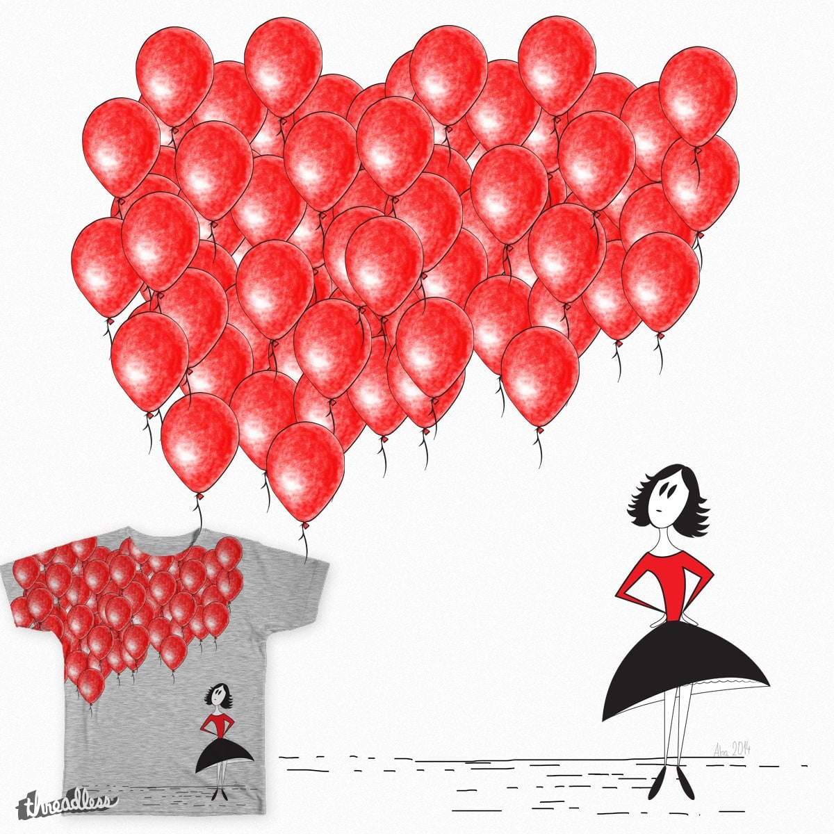 99 Red Balloons By Aha C On Threadless