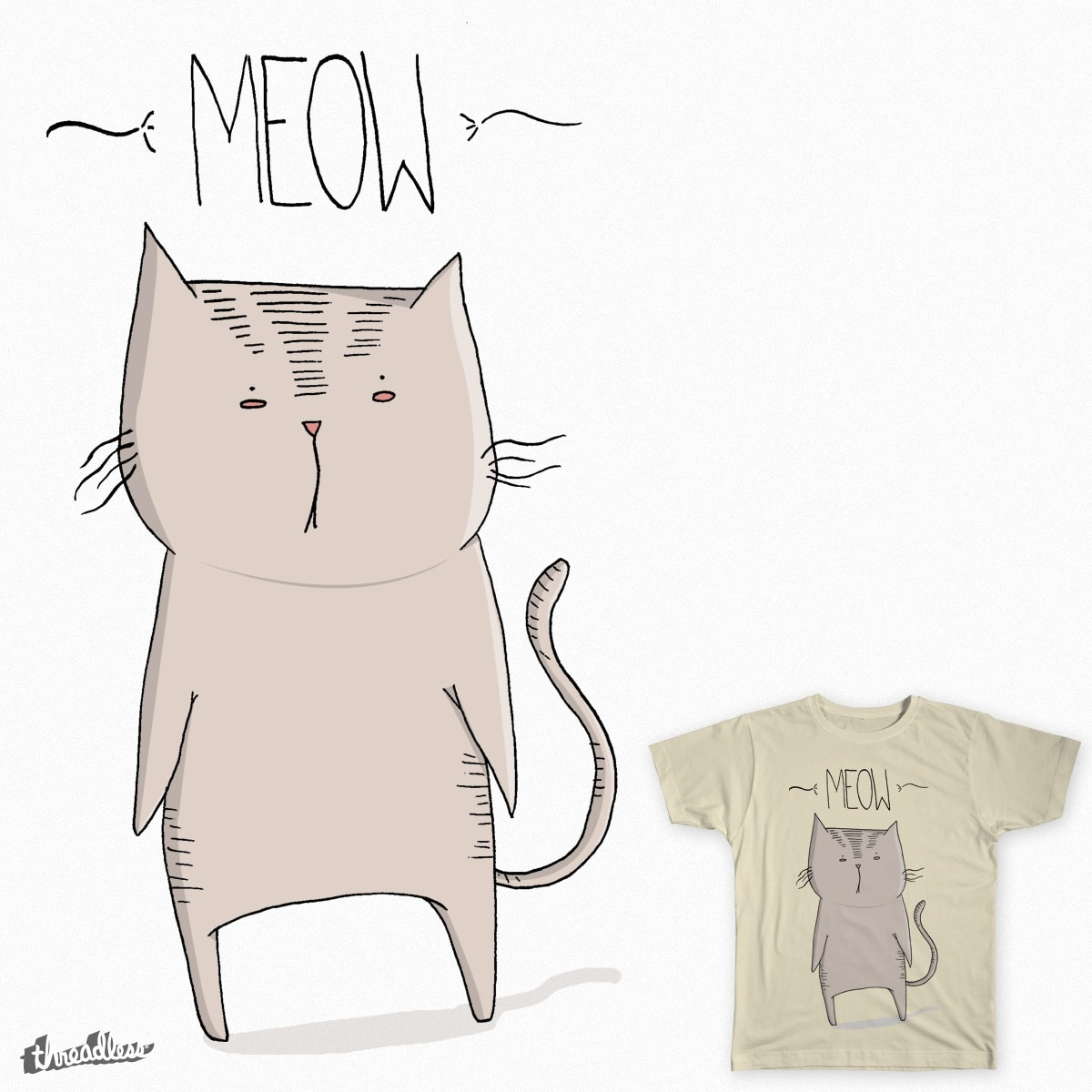 Meow by maricavalcante on Threadless