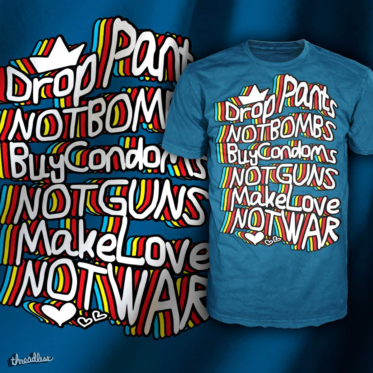 Make Luv not War by jolu27 on Threadless