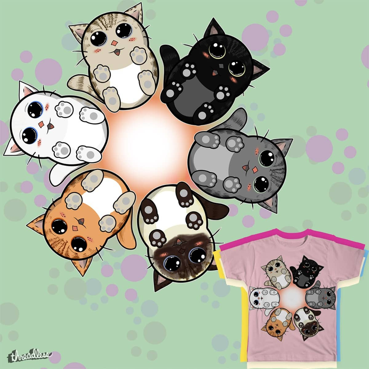 Kitty circle by OliverDemers on Threadless