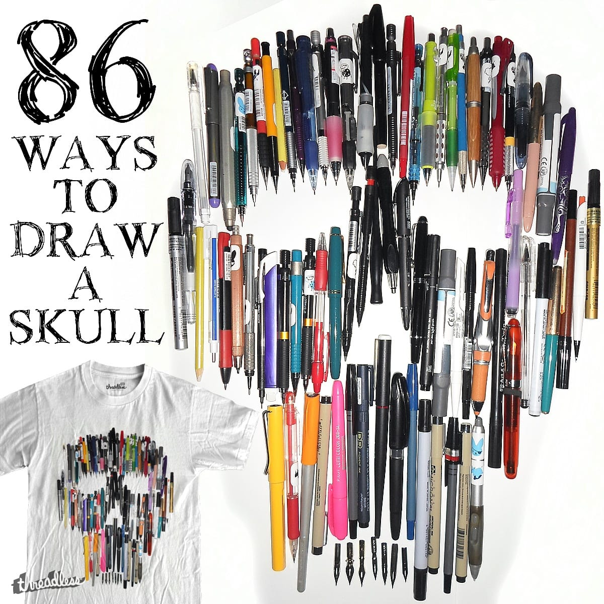 86 Ways to Draw a Skull by RL76 on Threadless