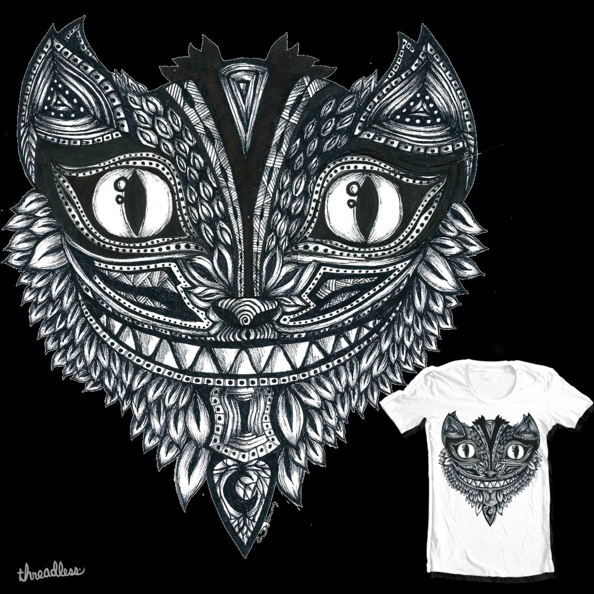 Grinning Through The Leaves by sparki111 on Threadless