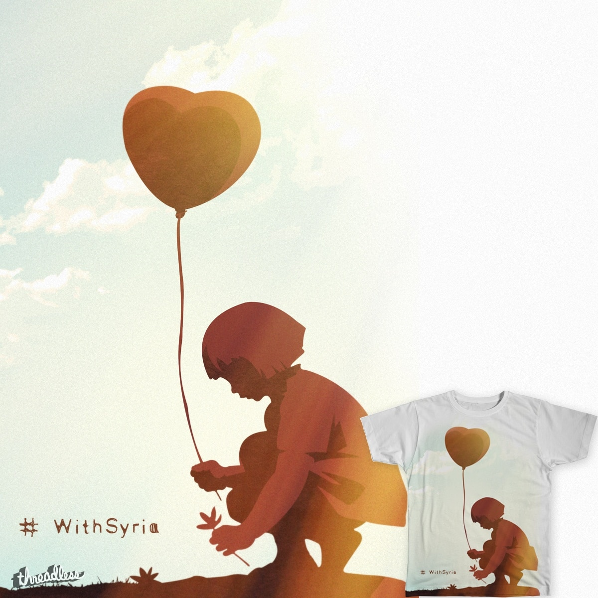 #withSyria by sedki-alimam on Threadless