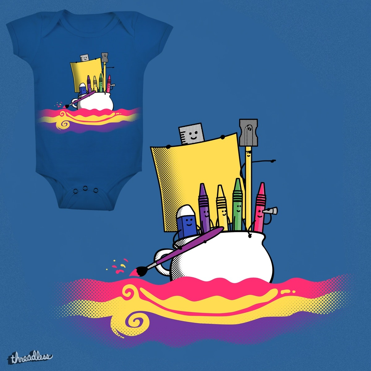 The quest of Creativeland by sachpica on Threadless