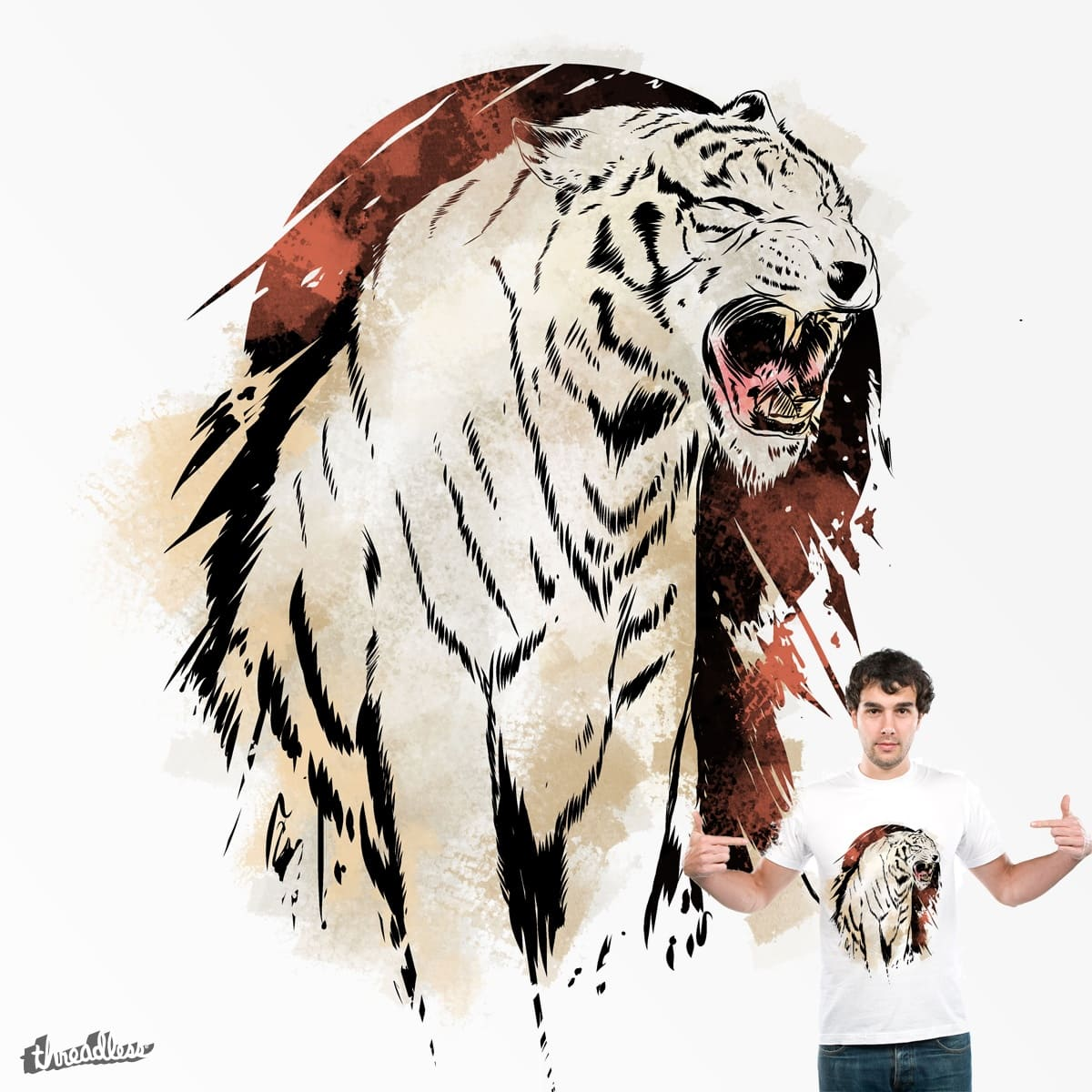 White Tiger by zen-it on Threadless
