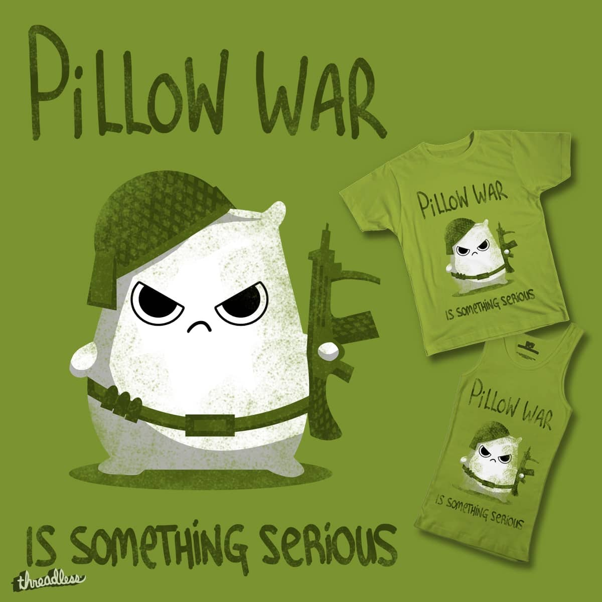 Pillow war by DaylightFirefly on Threadless