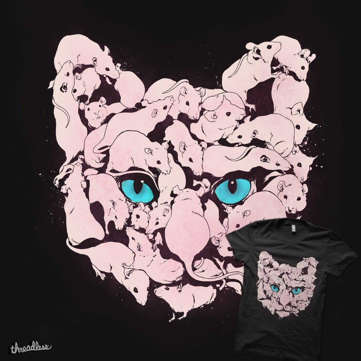 HUNGRY CAT by SPYKEEE on Threadless