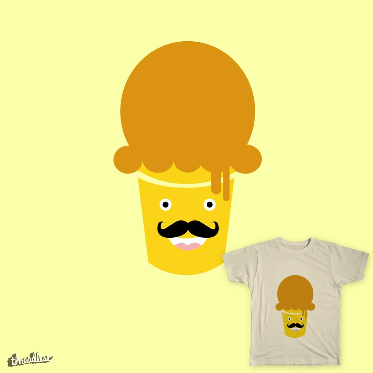 ice creamustache by titusurya on Threadless