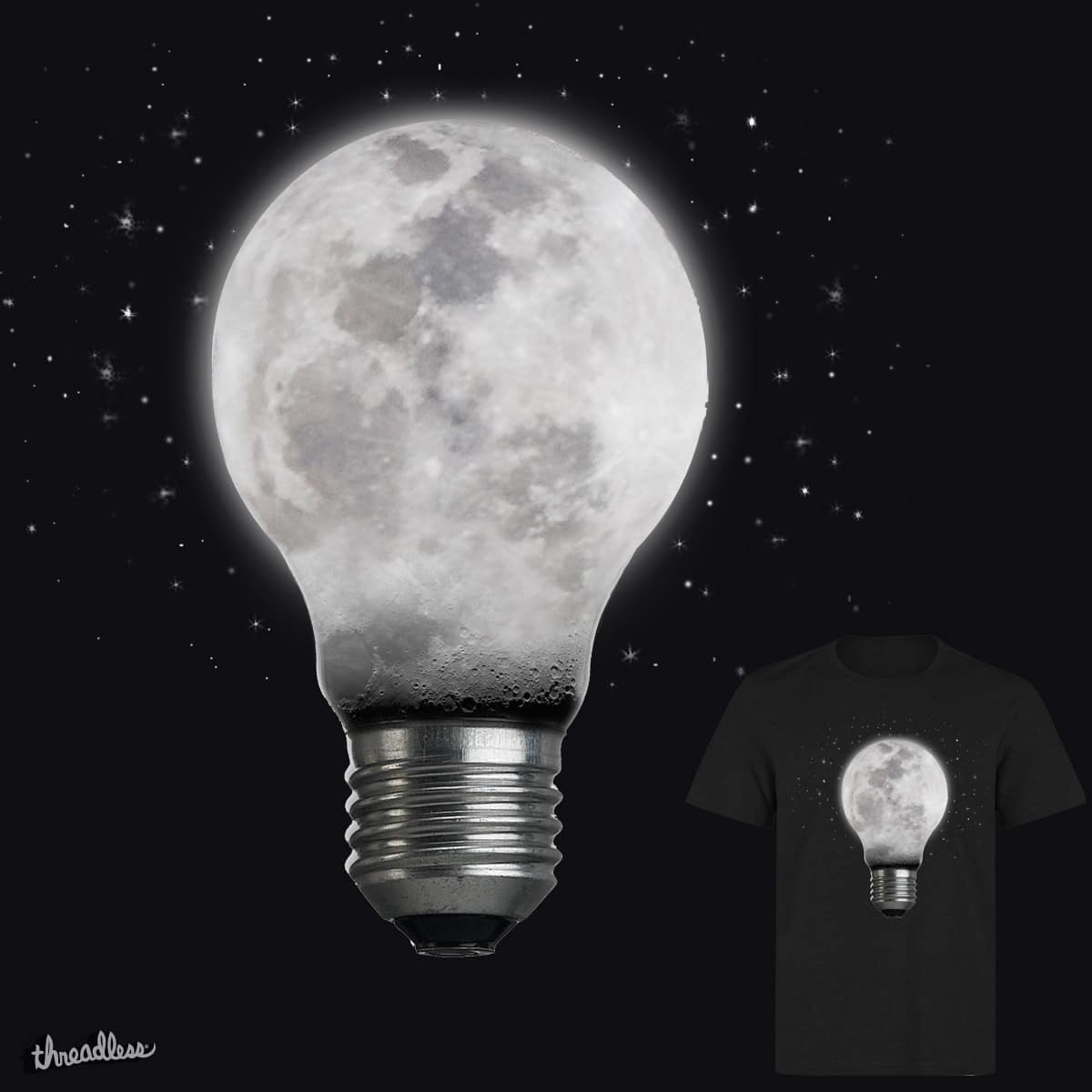 Moon Bulb by Loremnzo and RiccardoXIII on Threadless