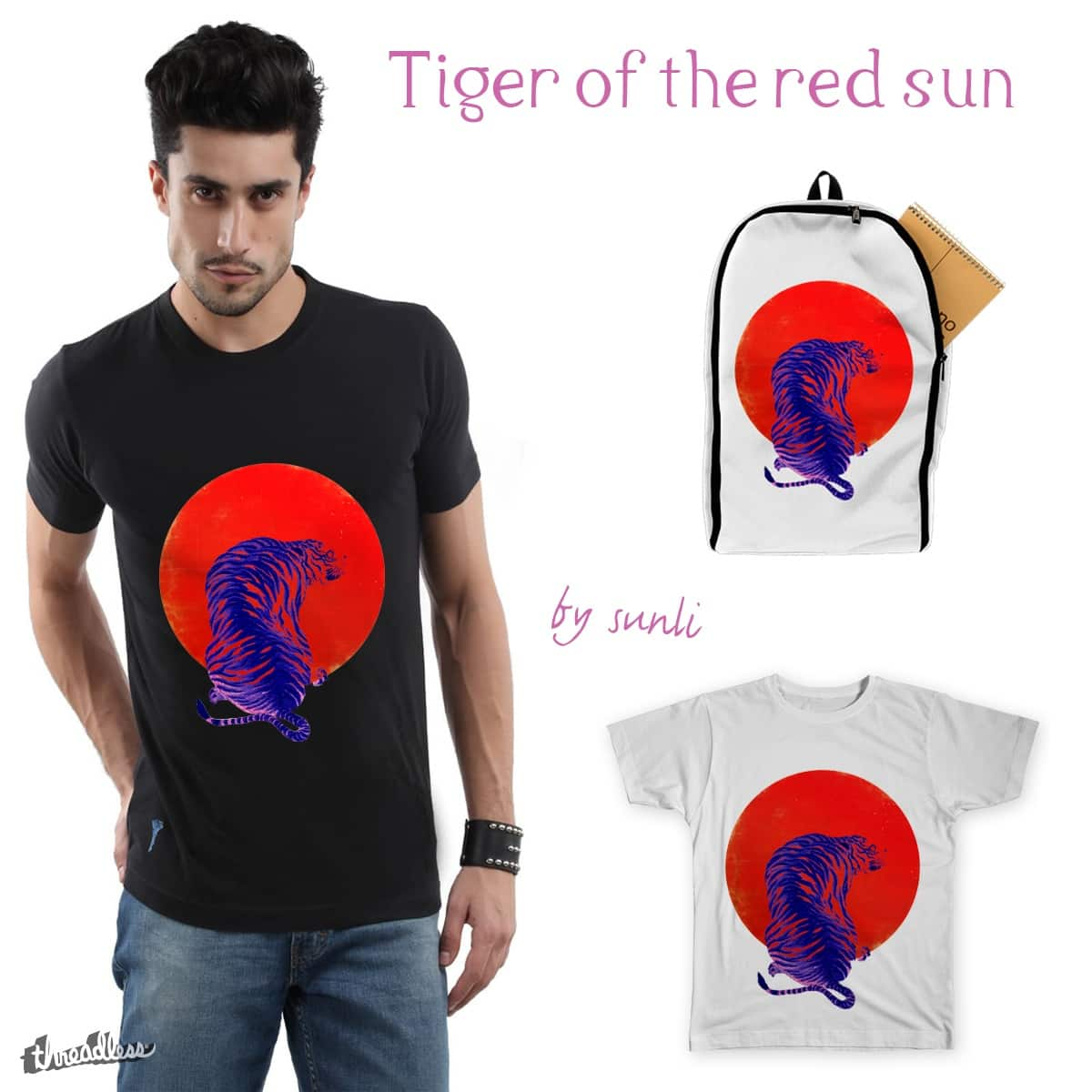Tiger of the red sun by sunli on Threadless