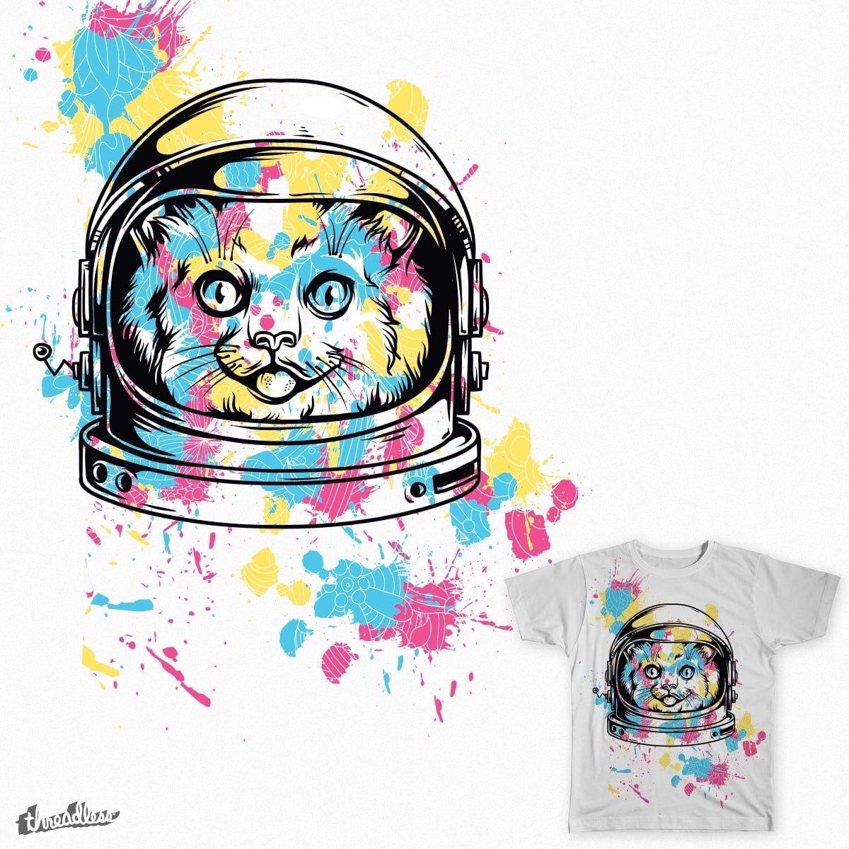 Astronaut Kitty by andresmm91 on Threadless
