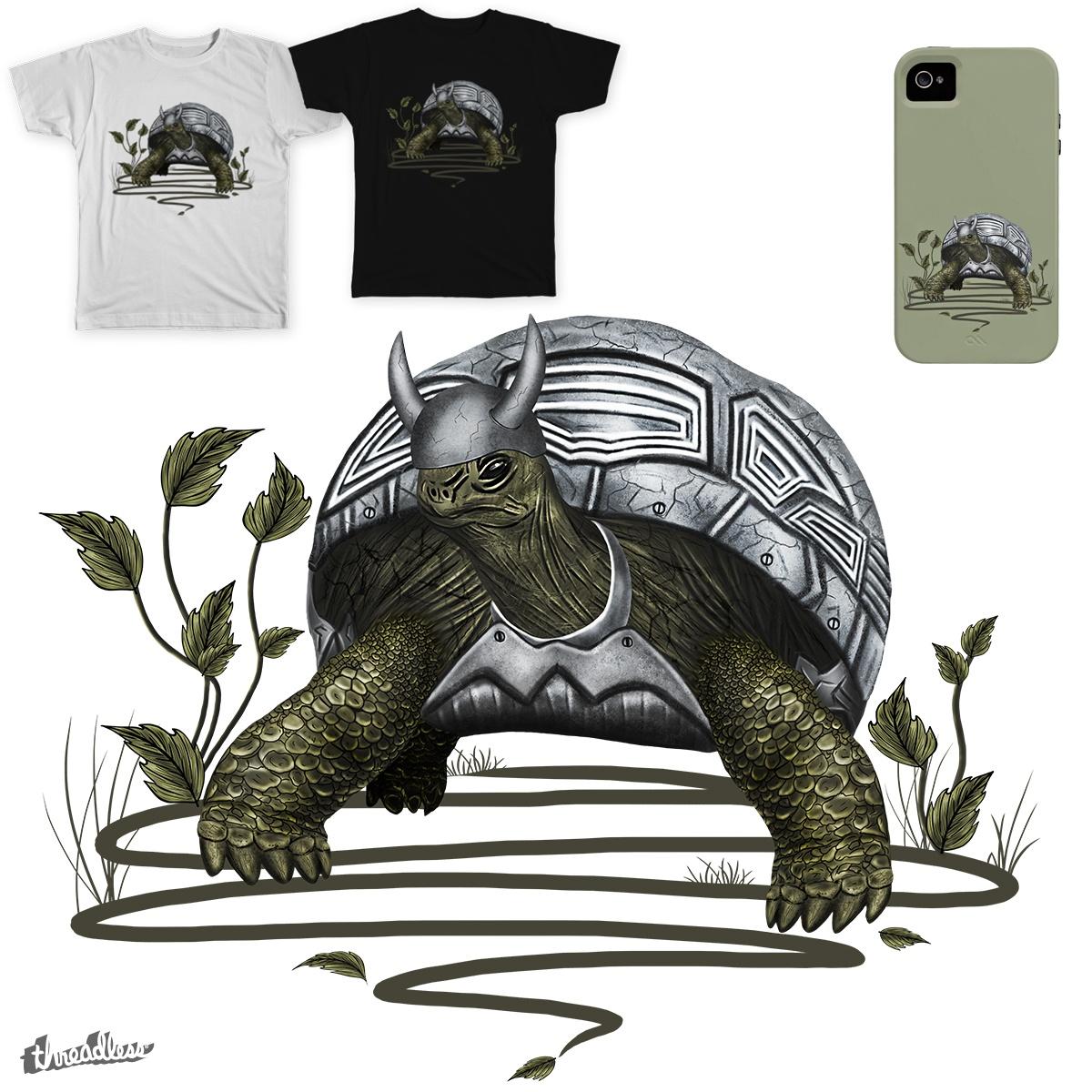 Old turtle warrior by lermannika on Threadless