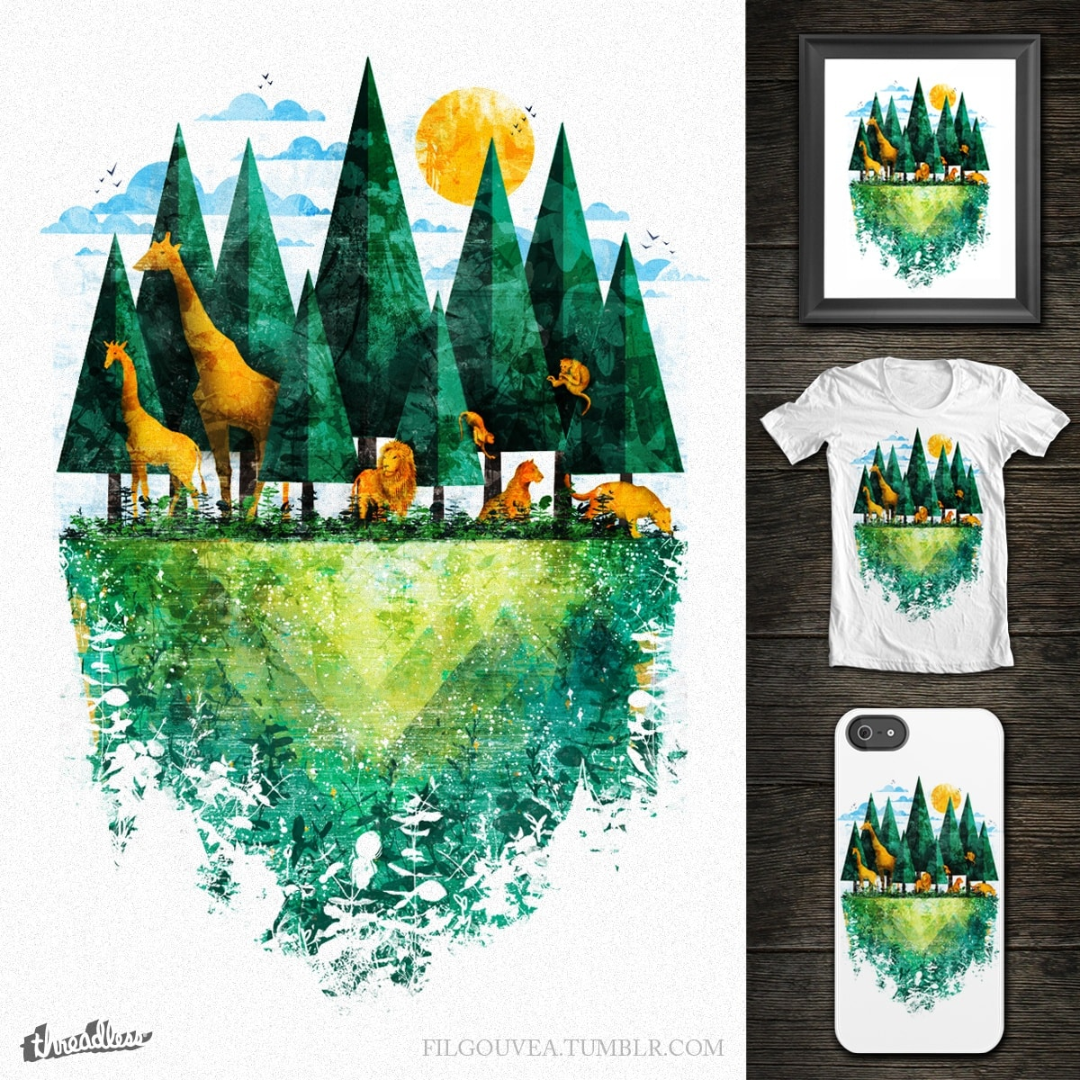 Geo Forest by filgouvea on Threadless