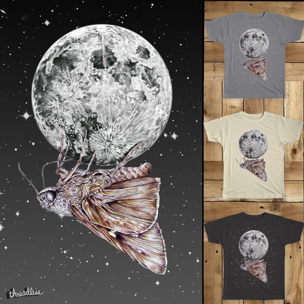 Moon Moth by ennui du fromage on Threadless