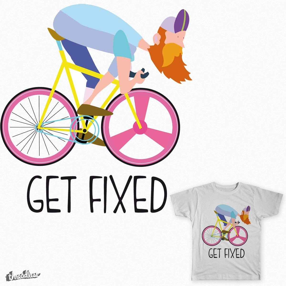 Hipster by andresbruno on Threadless