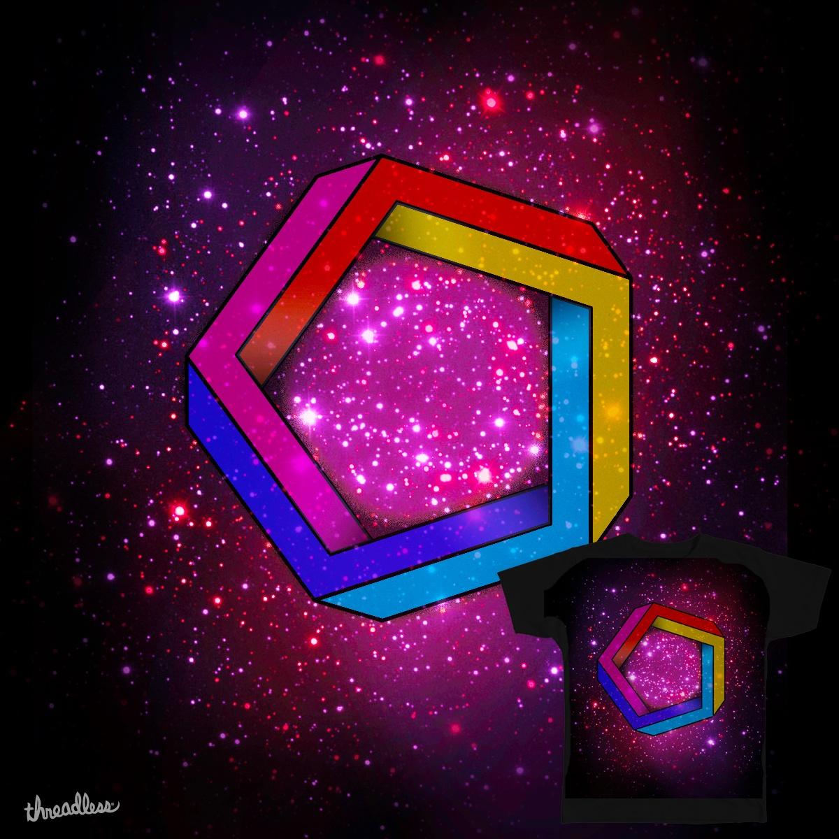 3D Pentagon Illusion by RilstaJB on Threadless