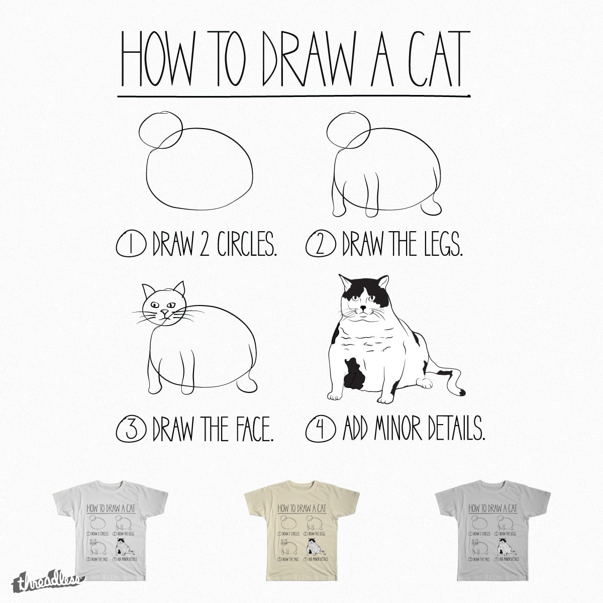 How To Draw A Cat by PolySciGuy on Threadless