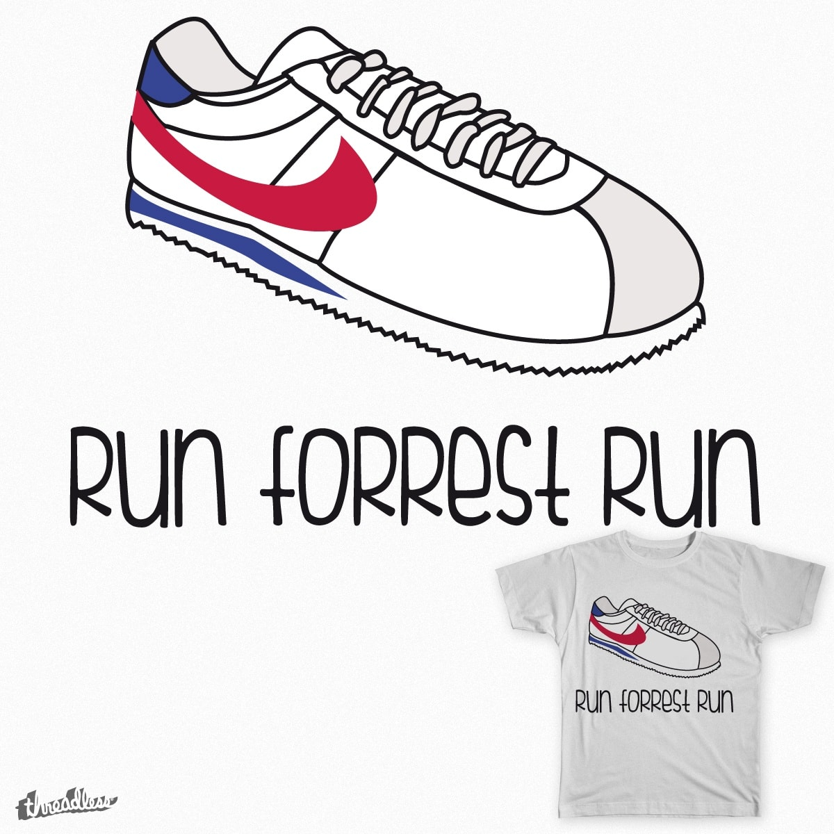 Run forrest run by andresbruno on Threadless