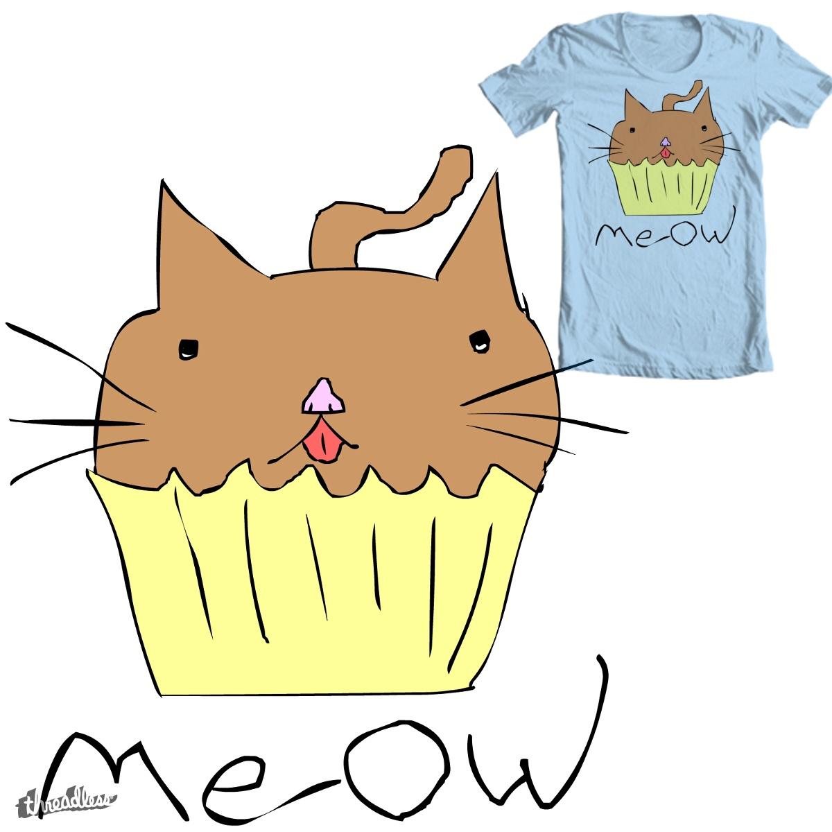 Cupcake Cat by blackblackocean on Threadless