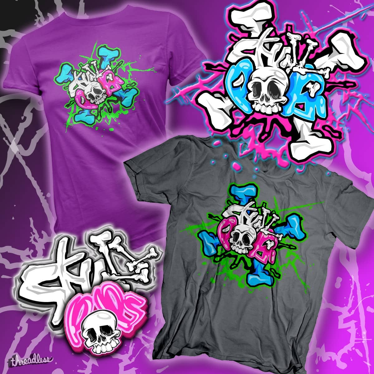 Skull Pops by Funky Turtle on Threadless
