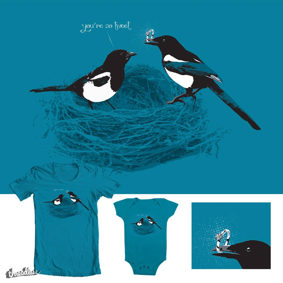 Tweet Magpie by paulippines on Threadless