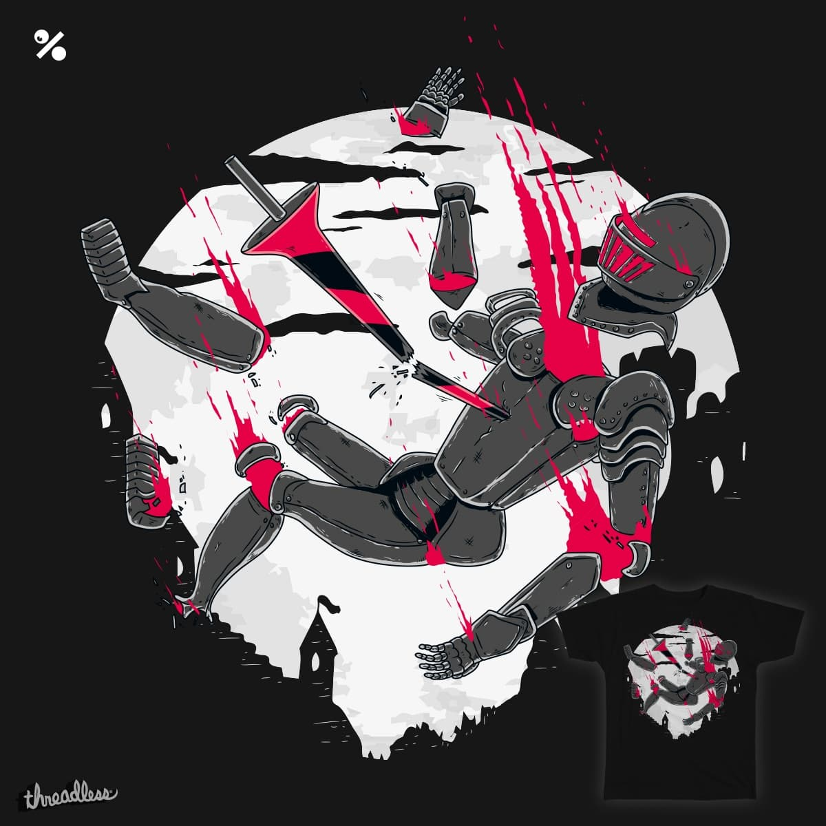 Knight Fall by weirdofared on Threadless