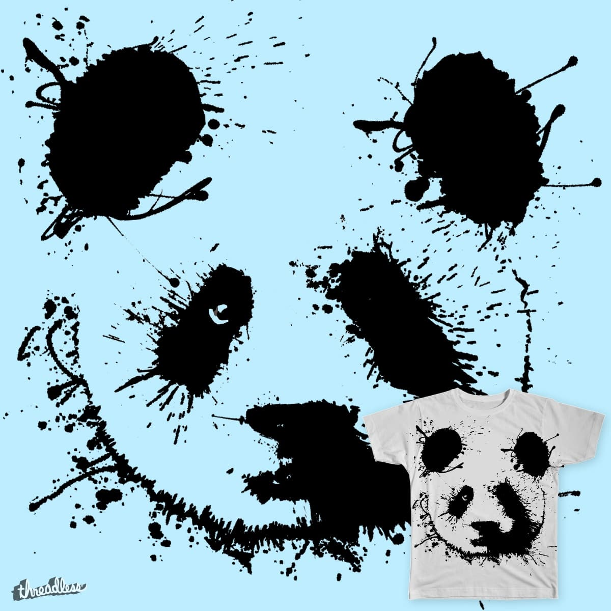 Splash Panda by PacoSalgado on Threadless