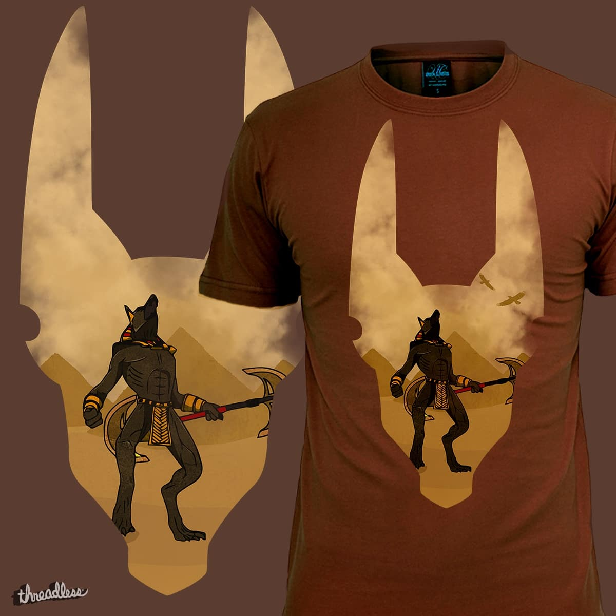 Anubis, God of the Dead by maddiecristea on Threadless