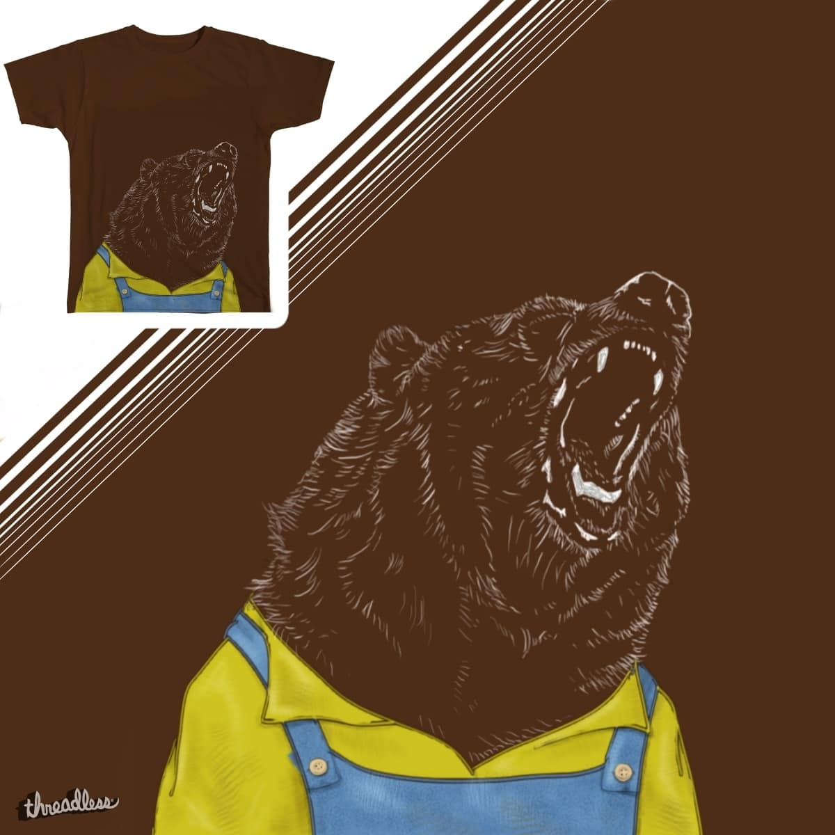 papa bear by FooFox on Threadless