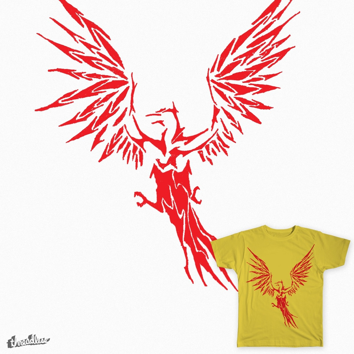 landing flame  by maxomis on Threadless