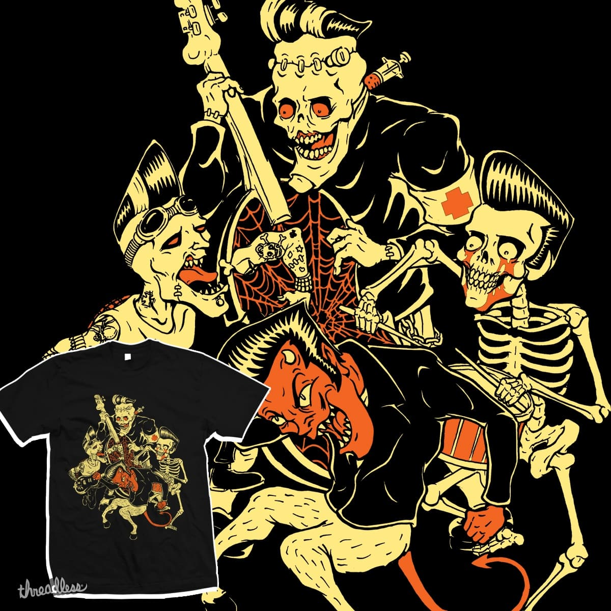 demon party by HorrorRudey on Threadless
