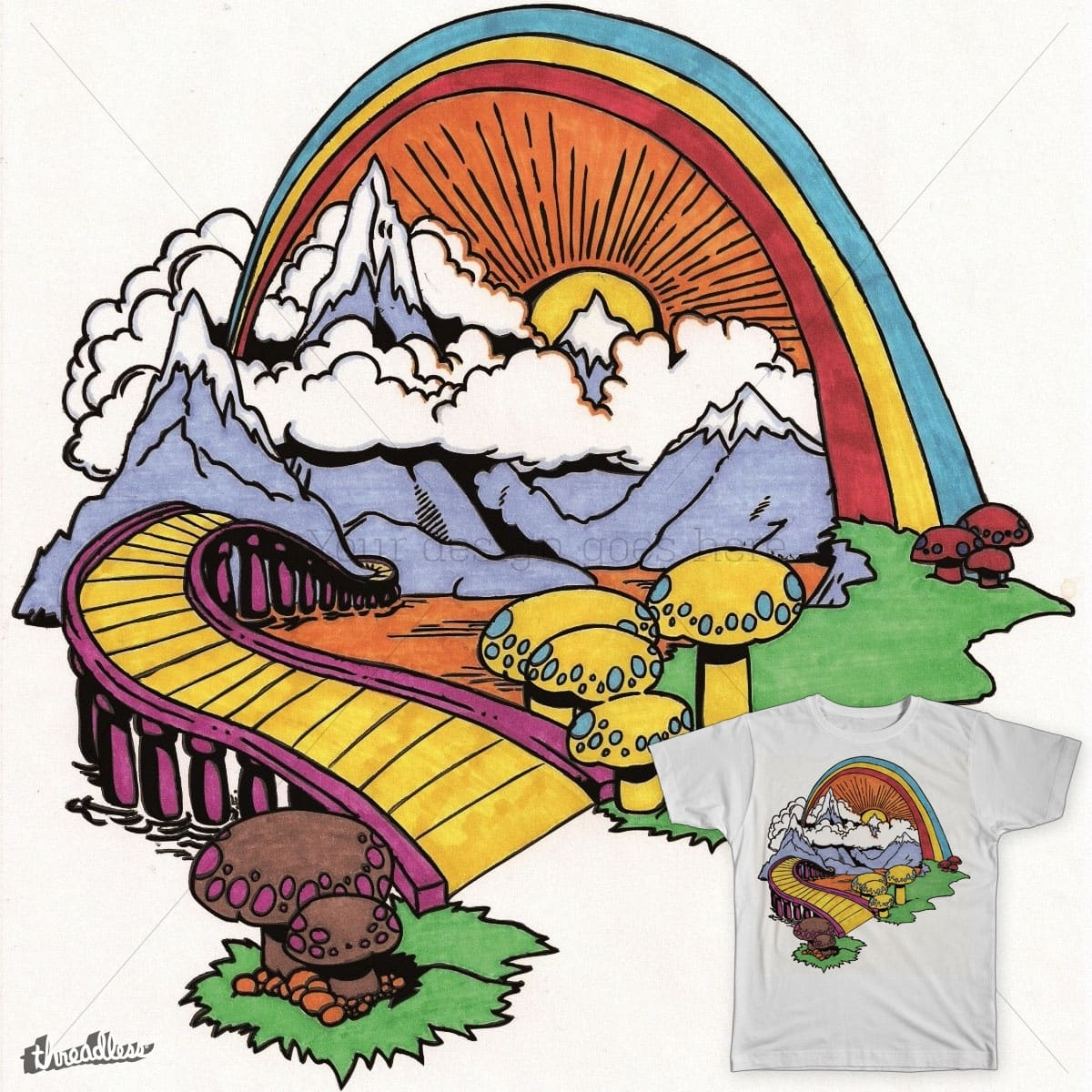 The End of the Rainbow by fleedom on Threadless