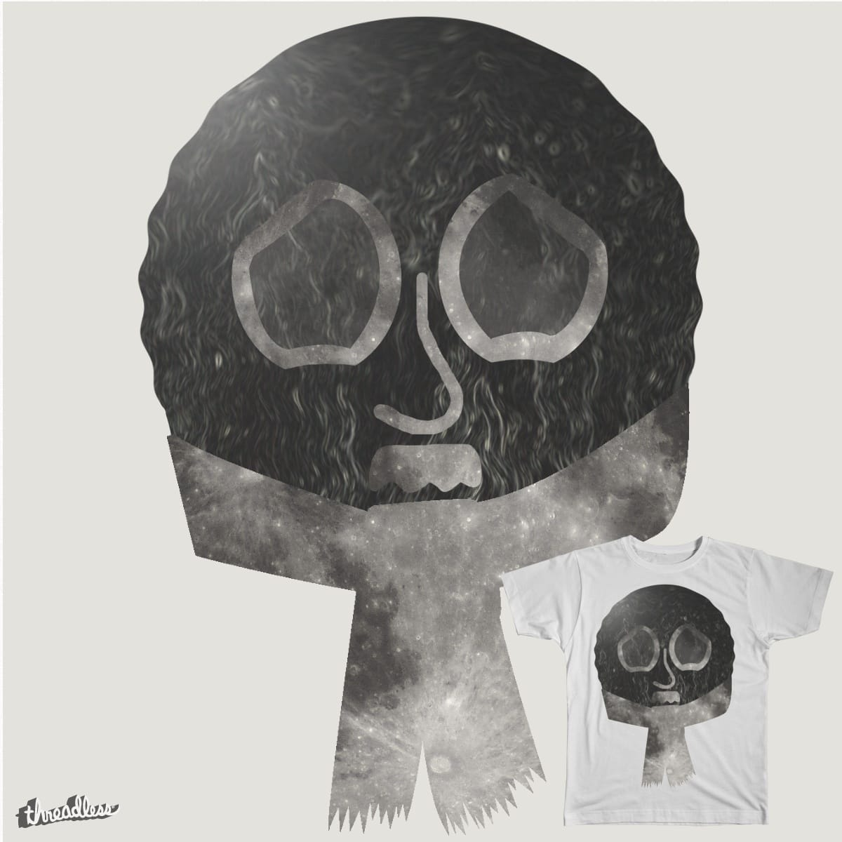 The lonely moon by SirJamieCross on Threadless