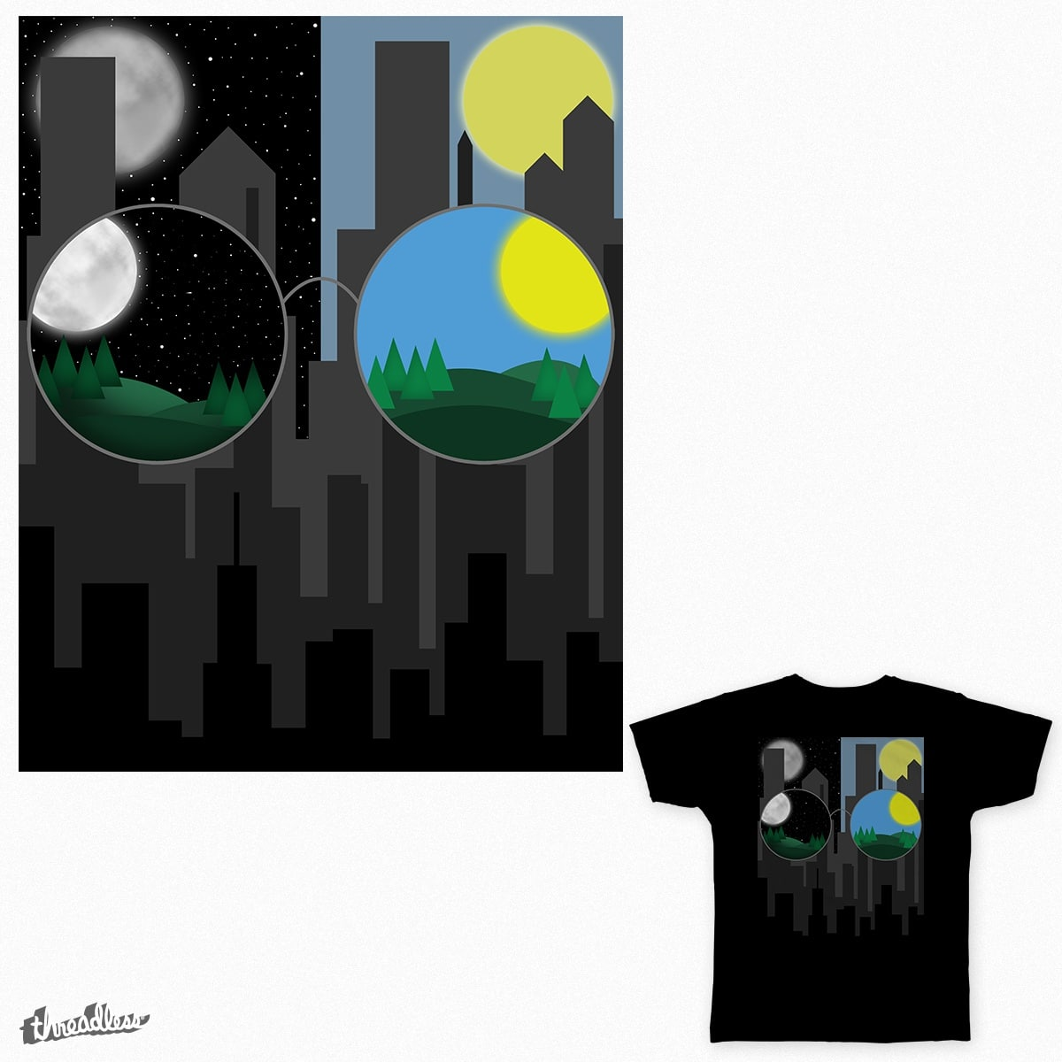Day and Night by jamieBryant on Threadless