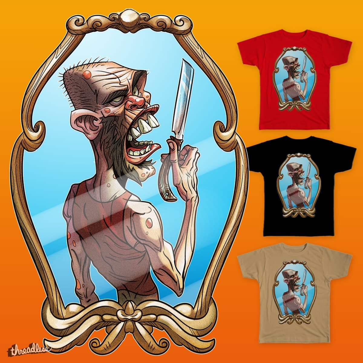 Zombie shave by HamexD on Threadless