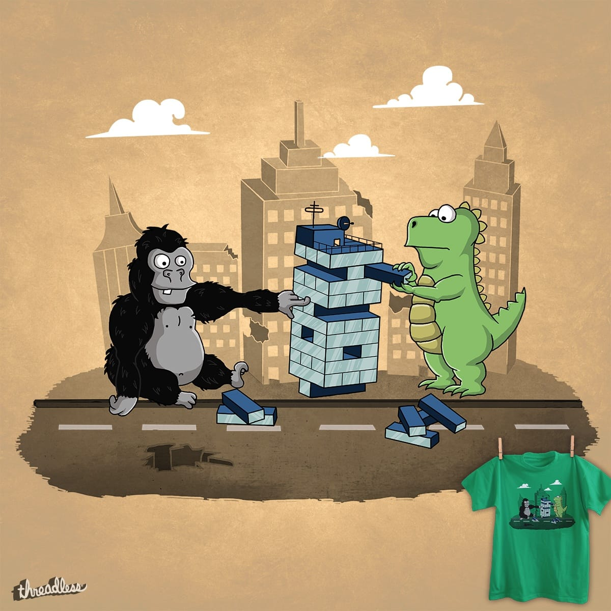 Score Monster Jenga by Eddy_cz on Threadless