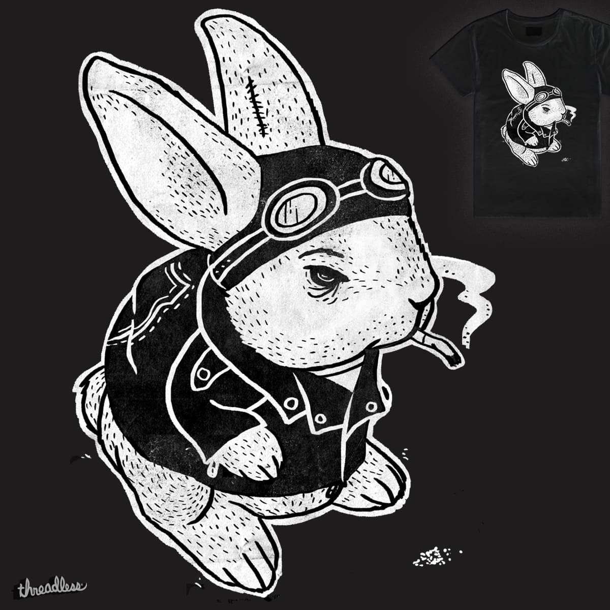 Hell's Rabbit by JuliaBack on Threadless