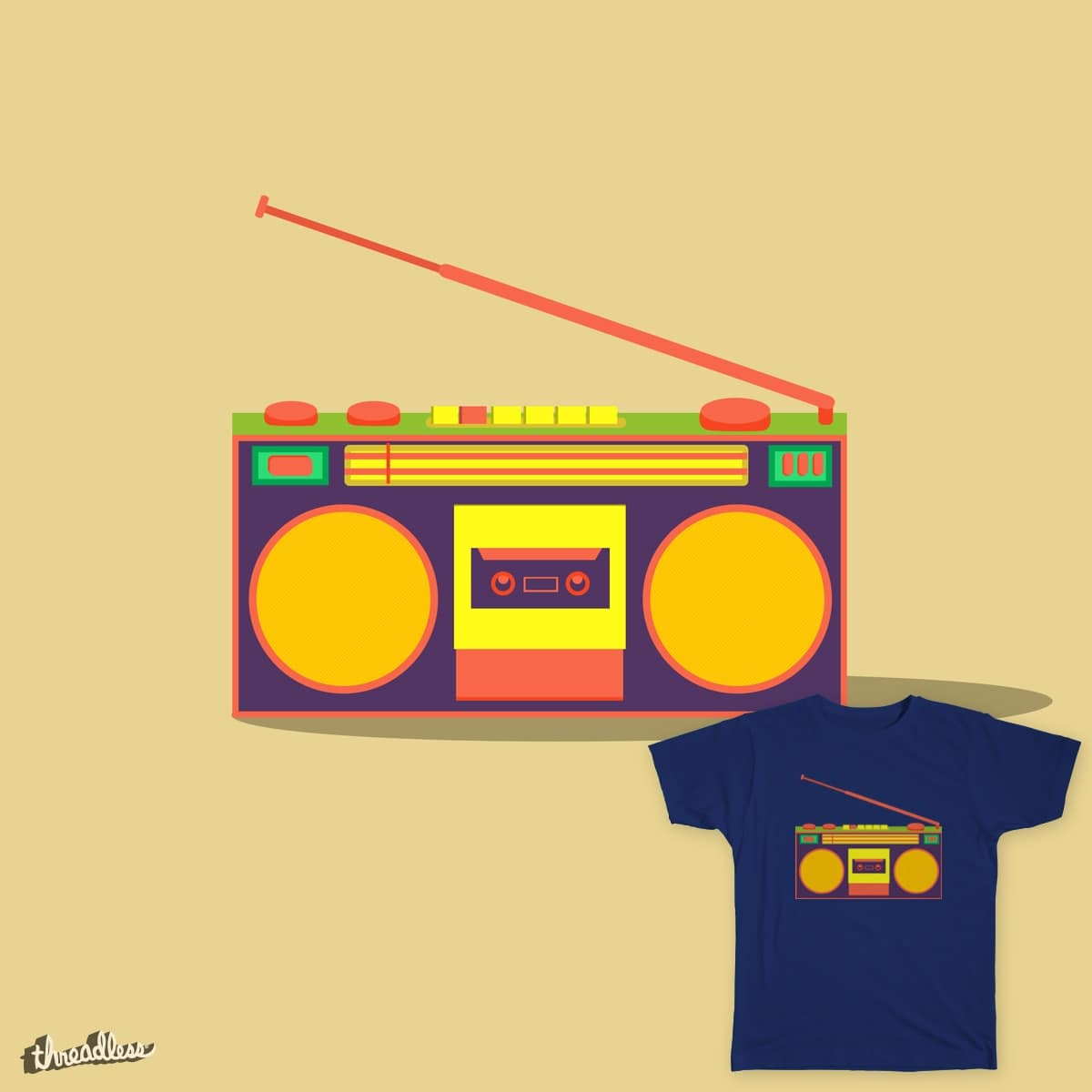 Devices - boombox by hotamr on Threadless