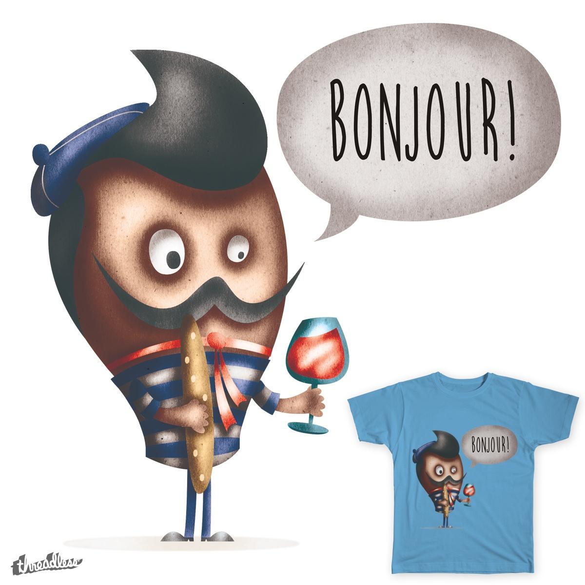 Bonjour! by Supabean on Threadless