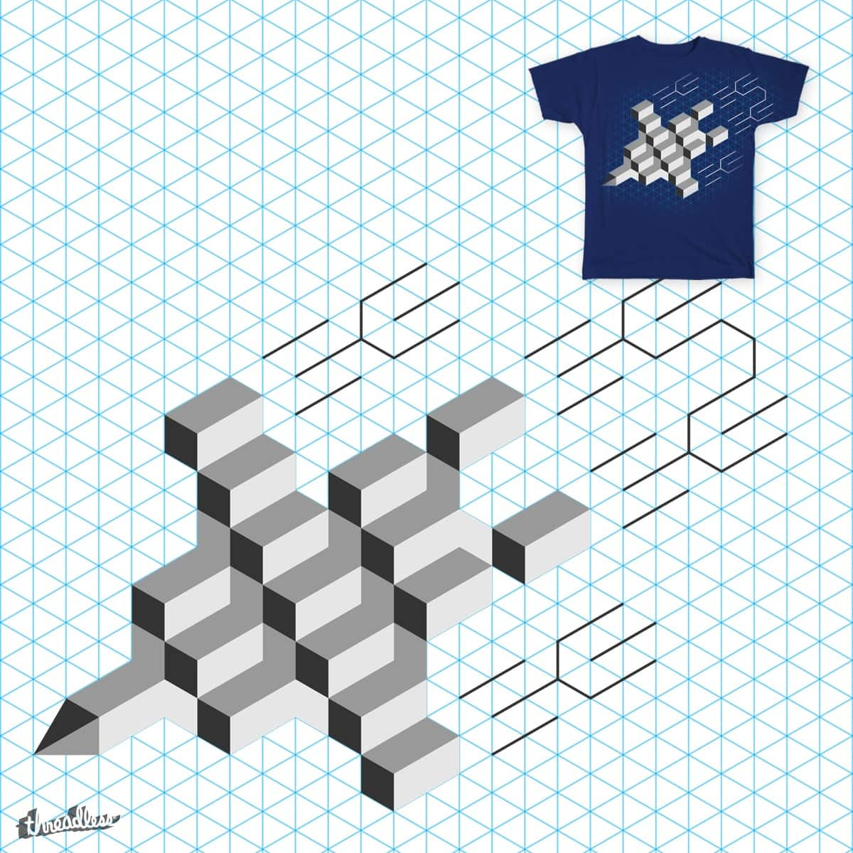 Isometric Fighter Jet by modular colors on Threadless