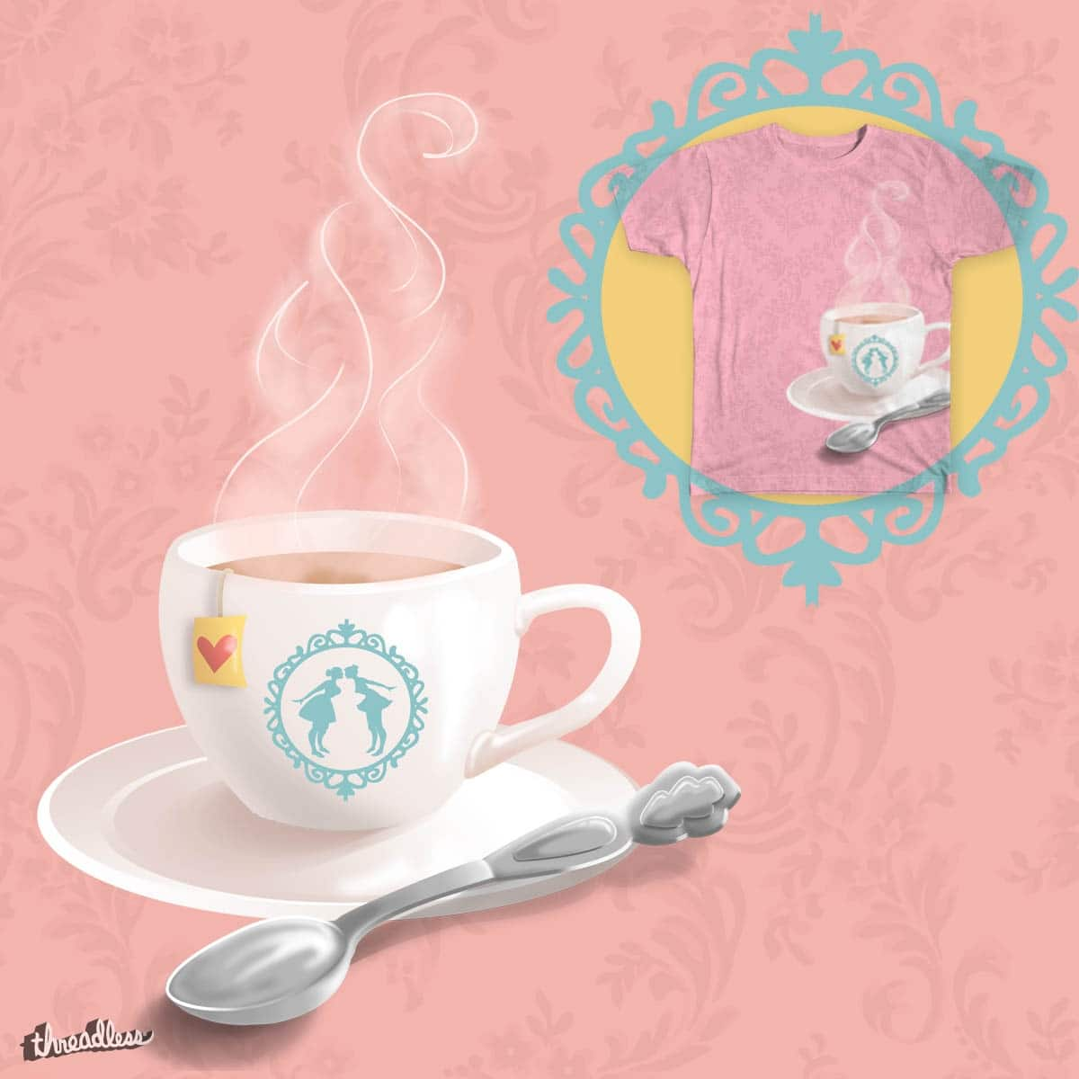 Tea & Kisses by lise-e on Threadless