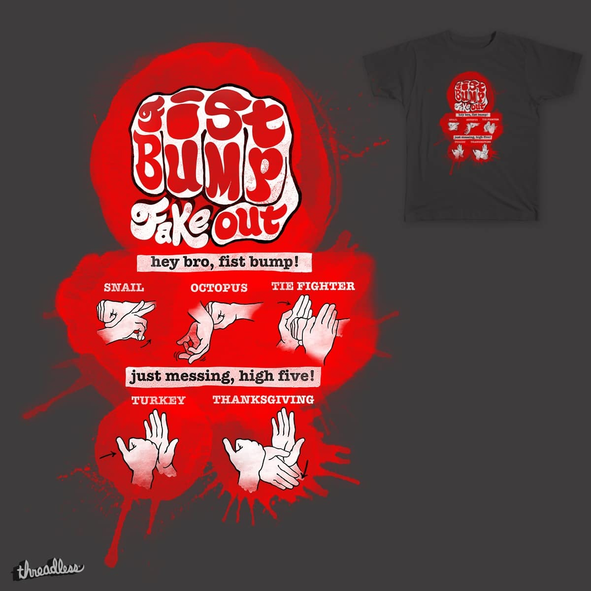 Fist Pump Fake Out by Caresaway on Threadless