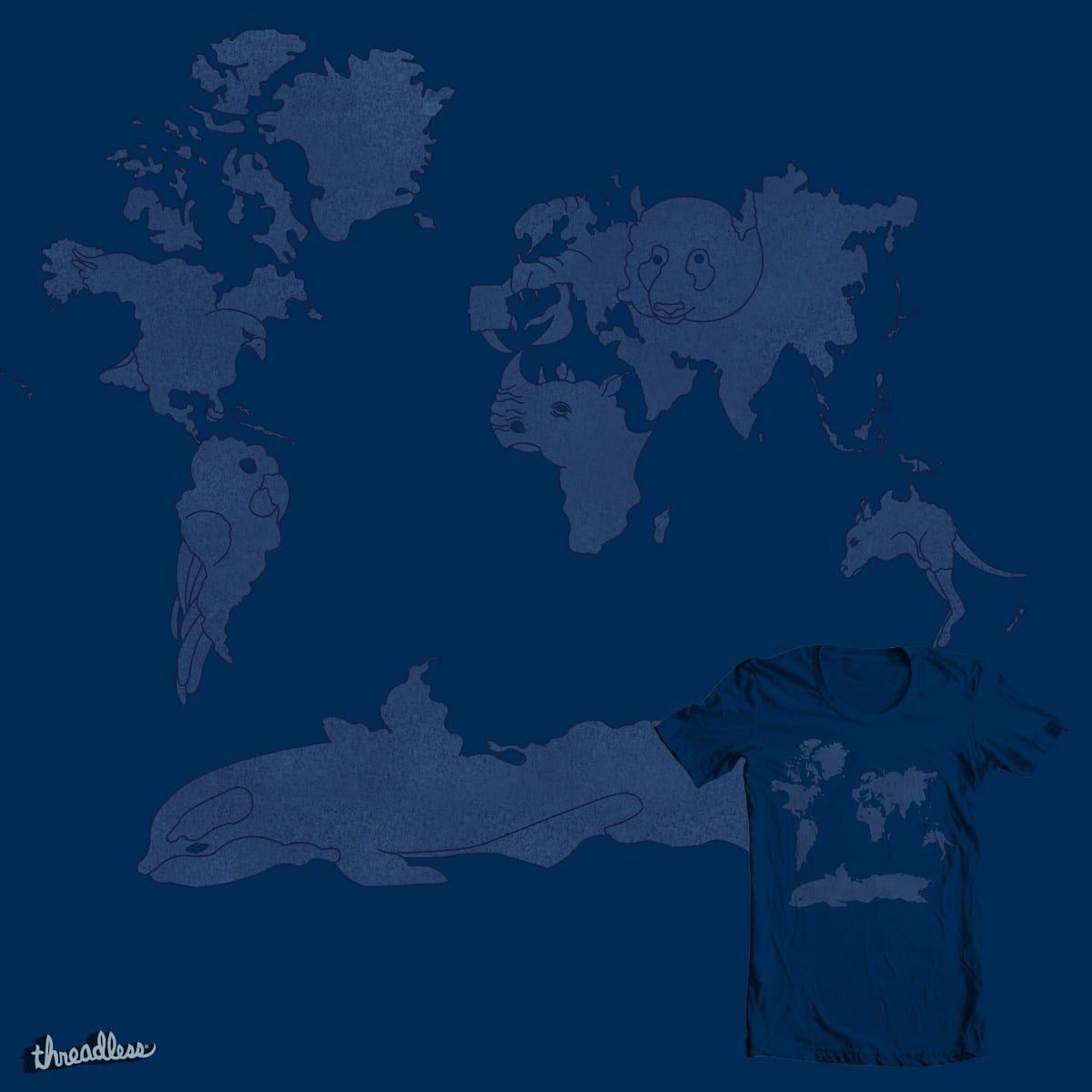 Landmasses of the Wild by Ru Chery on Threadless