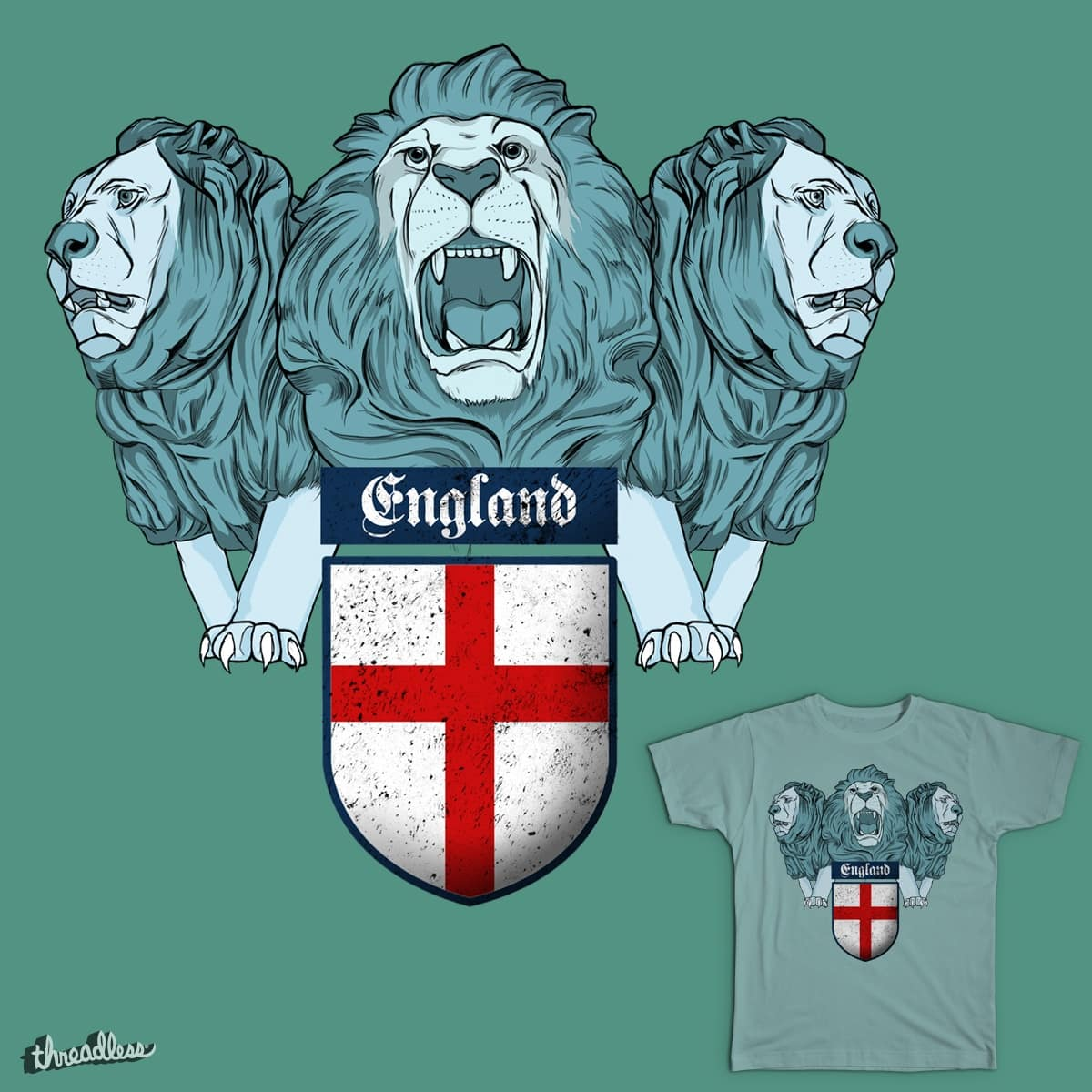 Come On England by BadPony on Threadless