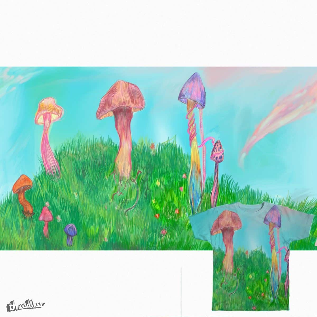 Psychedelic Fungi by teaheart on Threadless