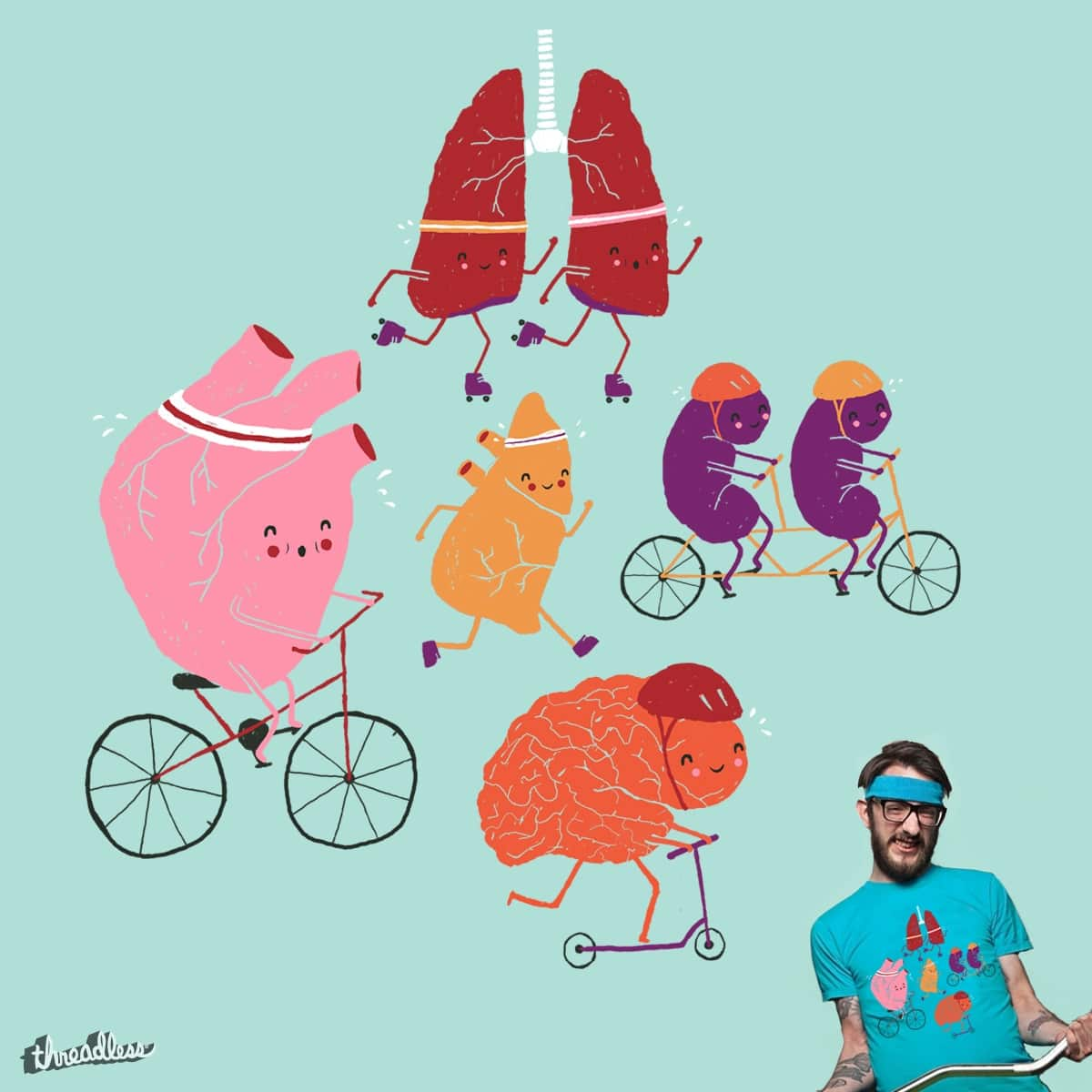 Exercise is Good for Us! by maudieandma on Threadless